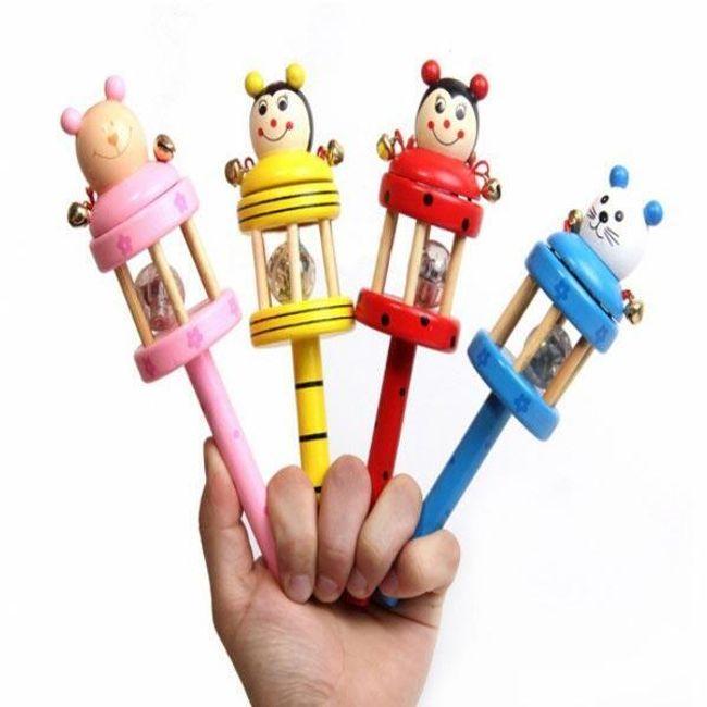 Dětské dřevěné chrastítko s motivem zvířátka 1