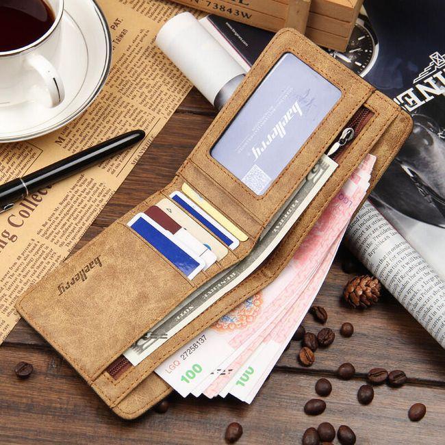 Vászon férfi pénztárca - 3 szín