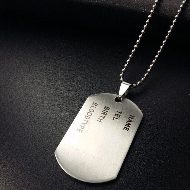 Medalion placuta de identificare - argintiu 1