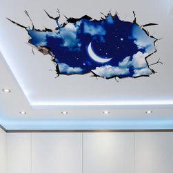 Naklejka 3D na sufit lub na podłogę - Niebo nocą