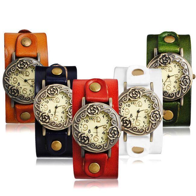 Dámské retro hodinky s růžičkami - v 5 barvách 1