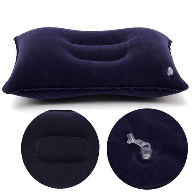 Синяя походная надувная подушка 1