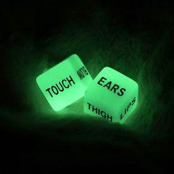 Любовные игральные кости светящиеся в темноте NB01