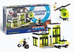 Stavebnica Cheva 19 Policajná stanica plast 335ks v krabici 45x30x5cm RM_49000019