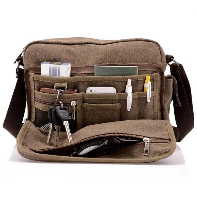 Multifunkcijska moška torba za rame 1