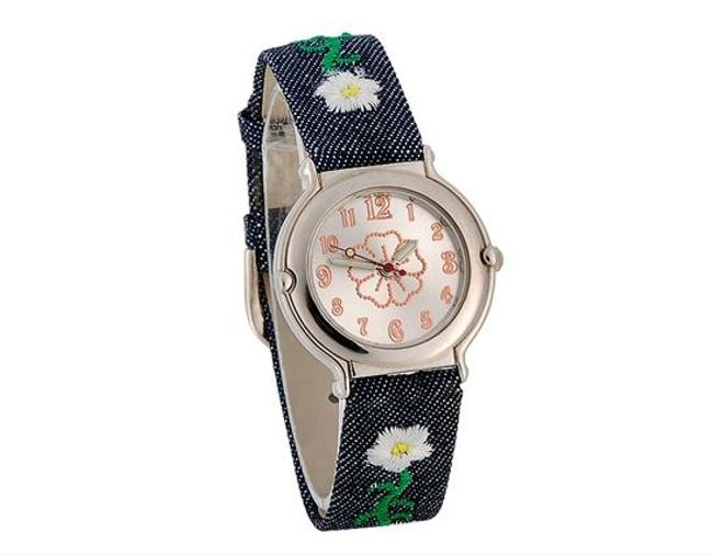 Dětské hodinky s kytičkovým motivem 1