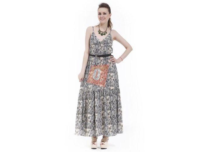Dámské letní šaty se zajímavým černobílým vzorem - vel. L 1