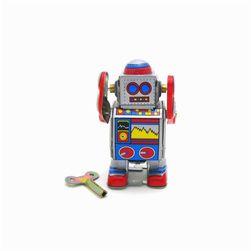 Nostalgická hračka - natahovací robot na klíč