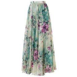 Damska długa spódnica w kwiaty