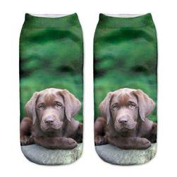 Kotníkové ponožky se štěňátky