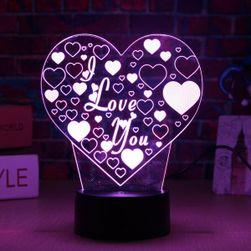 Lampă LED 3D cu inscripția I LOVE YOU