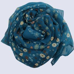Duża chusta z kwiatami w różnych kolorach