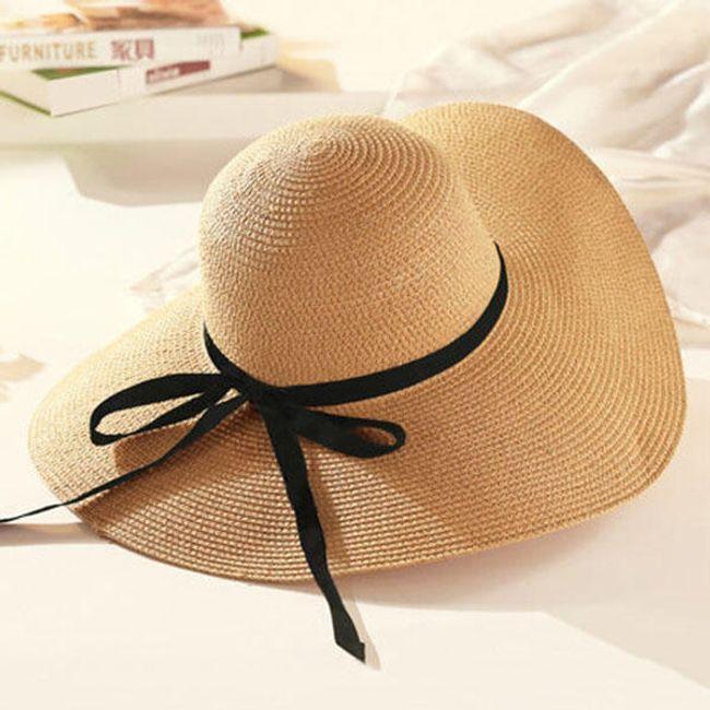 Широкополая шляпа с лентой- разные расцветки 1