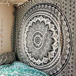 Univerzální bohémský šátek s motivem mandaly - 06