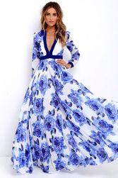 Elbűvölő virágos ruha nyári estéken - több méret