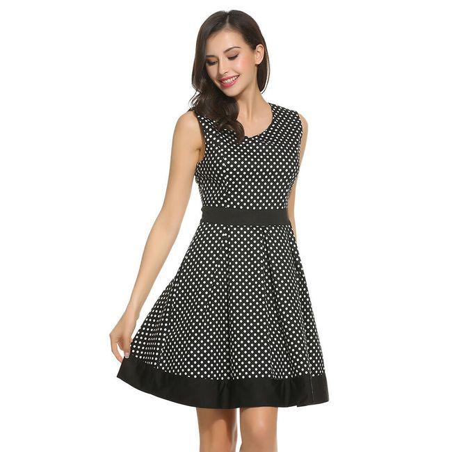 Retro šaty s puntíky - 2  barvy 1