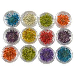 12 barev gelů na nehty se květinami