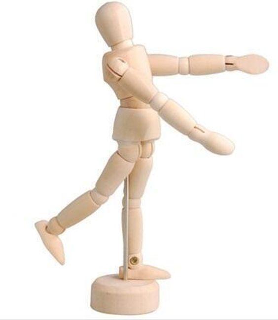 Figurina de lemn pentru desen 1