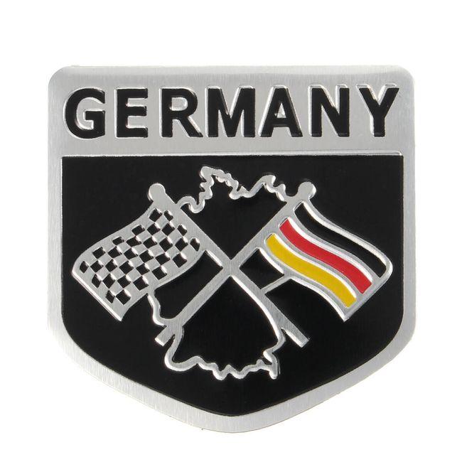 Autó matrica a német versenyző zászló mintával 1