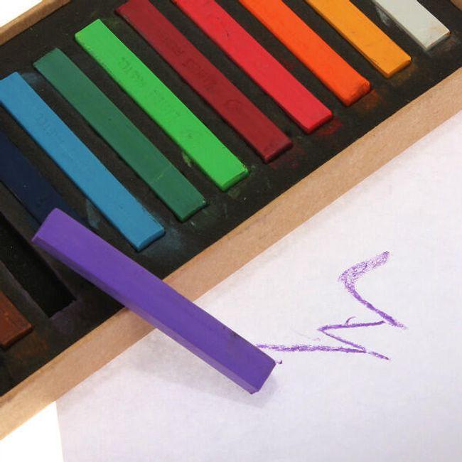 Kreda do farbowania włosów - 12 sztuk  1