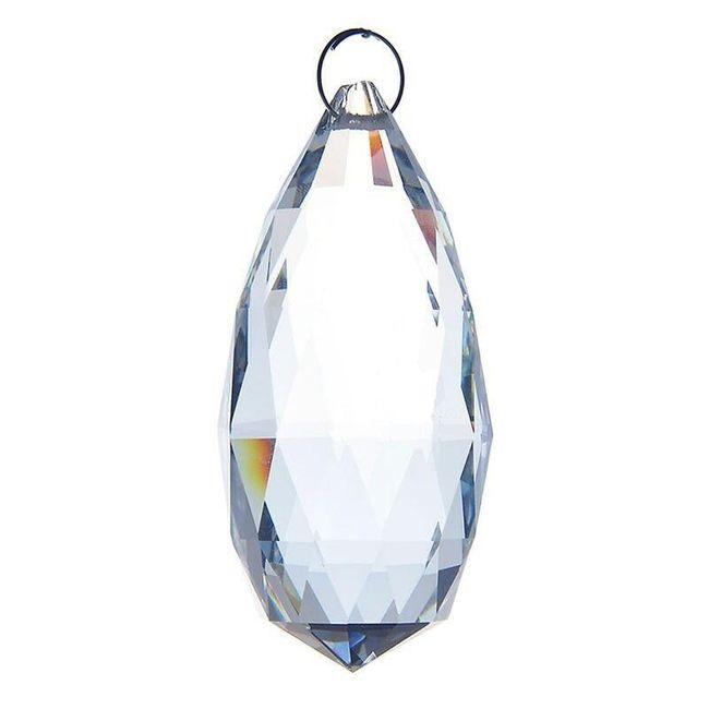 Kapkový krystal na lustr vysoký 9 cm 1