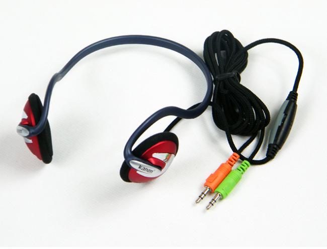 Sluchátka s mikrofonem Kanen KM320 - červená 1