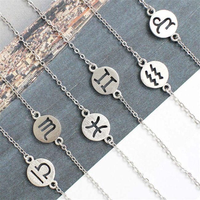 Jemný náramek se znamením horoskopu 1