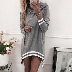 Повседневное платье с карманами- 3 цвета