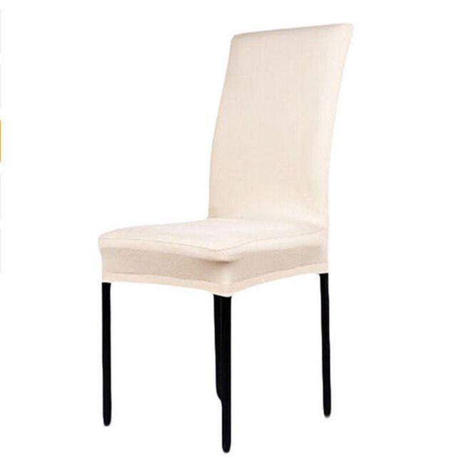 Jednobojna navlaka za stolicu - bež 1