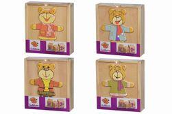 Dřevěná skládačka medvídek RZ_054019