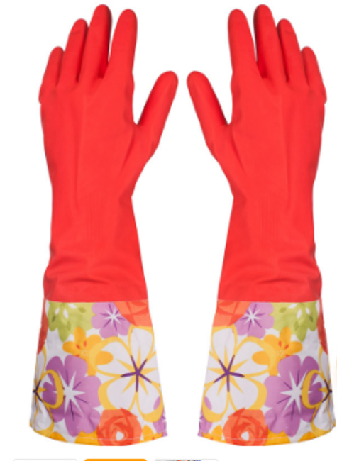Vyteplené gumové rukavice 1