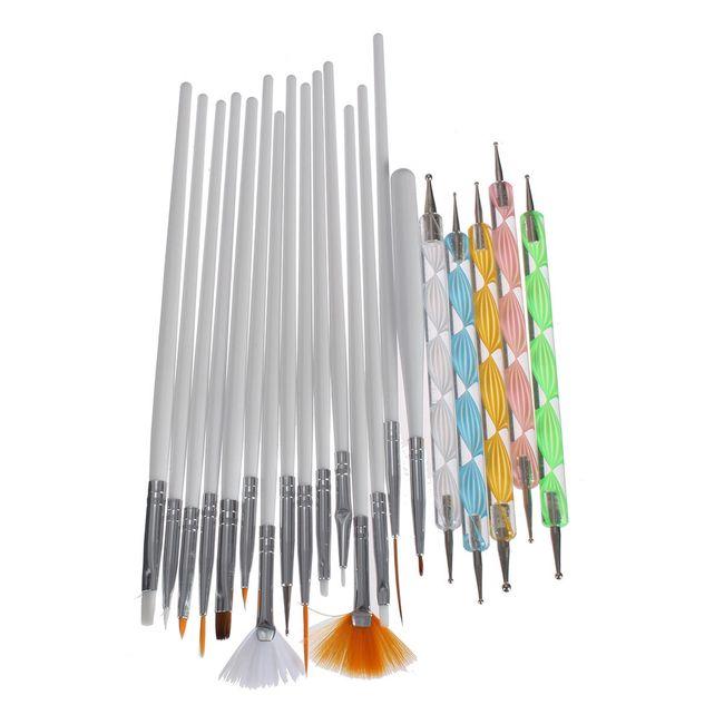Štětce a nástroje na manikúru - 20 ks 1