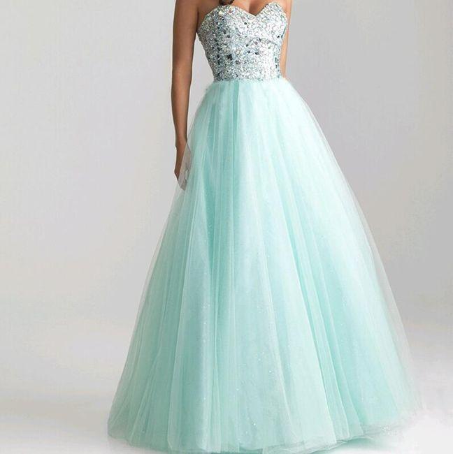 Длинное платье без бретелек, цвет ледяной ментол 1
