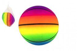 Lopta basketbal gumový nafúknutý 23 cm v sieťke RM_00850348