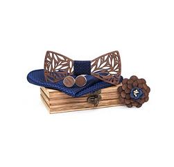 Галстук-бабочка, носовой платок и запонки Alan