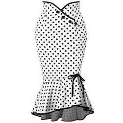 Retro puntíkovaná sukně s volánky