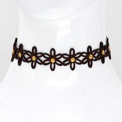 Choker náhrdelník květiny - 3 barvy