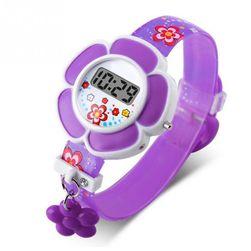 Zegarek dziewczęcy w kwiatki - 2 kolory