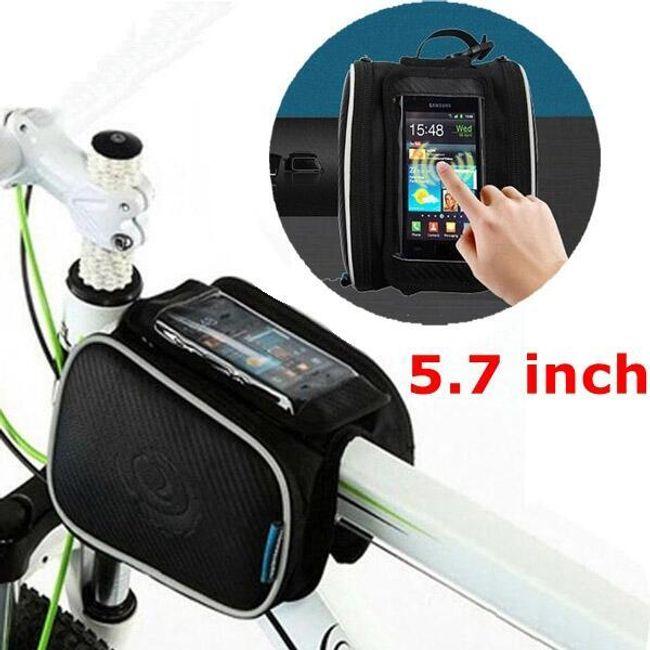 Vázra tehető kerékpár, biciklis táska telefon tartóval 1