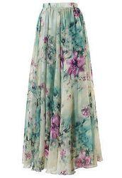 Maxi suknja sa cvetićima