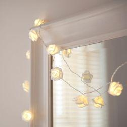 LED řetěz s růžičkami - 3 barvy