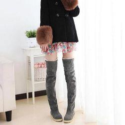 Dámské zimní boty nad kolena