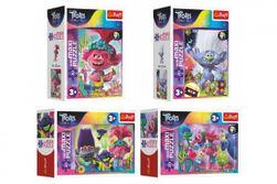 Minipuzzle miniMaxi 20 dílků V hudebním světě Trollů 4 druhy v krabičce 11x8x4cm 24ks v boxu RM_89156025