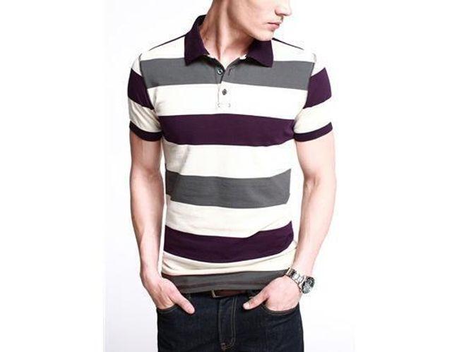 Pánské polo tričko - proužkované 1