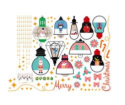 Autocolant de Crăciun Lisette