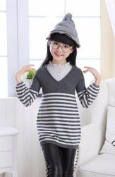 Dívčí svetr v šedých barvách - 4 varianty