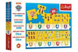 Puzzle vzdelávacie Čísla Tlapková patrola / Paw Patrol 20 dielikov 117x19,5cm v krabici 33x23x6cm RM_89015578