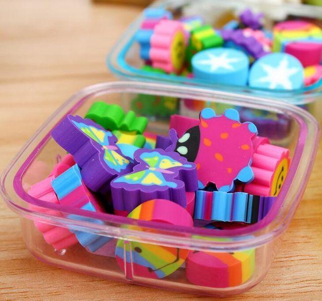 Krabička s gumovacími gumami 1