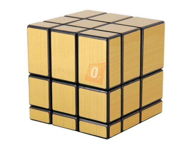 Rubikova kostka, 3 x 3 - nepravidelná, zlatá 1
