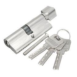 Wkładka do zamka drzwiowego z guzikiem i kompletem 3 kluczy